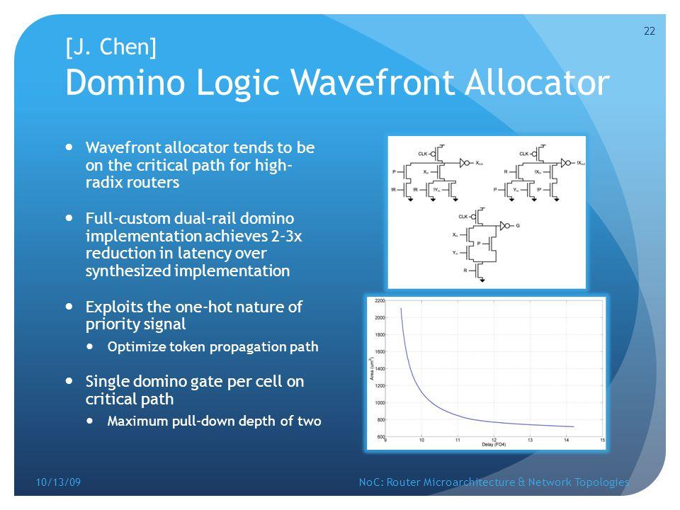 [J. Chen] Domino Logic Wavefront Allocator